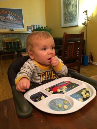 Miles eating